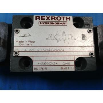 USED REXROTH 4WE6E52/AG24NZ4 DIRECTIONAL VALVE 4 WE 6 E52/AG24NZ4 U4