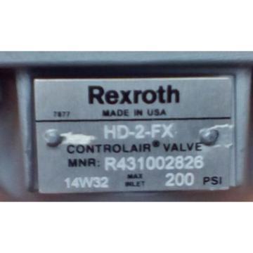 Rexroth ControlAir Valve Model HD-2-FX R431002826 P50970-4