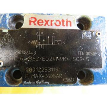 Origin BOSCH REXROTH R901186443 4WE 6 JB62/EG24N9K4 VALVE 000122531191