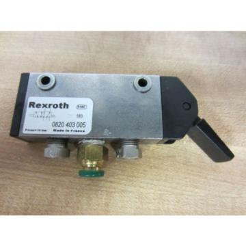 Rexroth Bosch Group 0820403005 Manually Operated Level Valve - Used