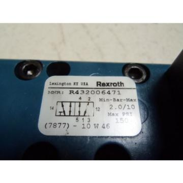 REXROTH GT-010062-02424 SOLENOID VALVE USED