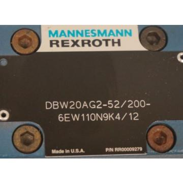 Origin MANNESMAN REXROTH DBW20AG2-52/200-6EW110N9K4/12 CONTROL VALVE
