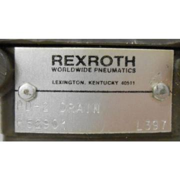 REXROTH, PILOT AIR CONTROL VALVE, P52901, PD-2 DRAIN, 250 PSI MAX
