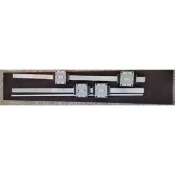 Bosch Rexroth 2x Linearführung 1520mm 4x Wagen R185143210 Linearführungen 45