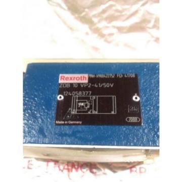REXROTH HYDRAULIC VALVE ZDB10VP2-41/50V R900422752