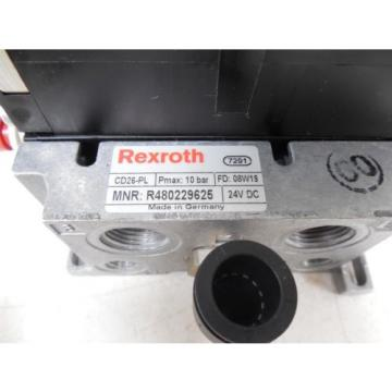 USED Rexroth R480229625 CD26-PL Pneumatic Valve Bank Module 5763510