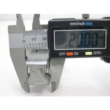 BOSCH REXROTH LINEAR RUNNER BLOCK R162289420 w/ REXROTH GUIDE RAIL, LENGTH 654mm