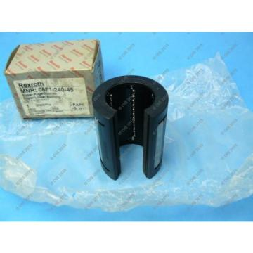 Rexroth Star 0671-240-45 Super Linear Ball Bushing Open Type 40 mm 2 Seals NIB