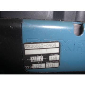 REXROTH CERAM GS20062-0909 PNEUMATIC SOLENOID VALVE USED