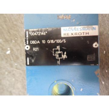 Origin REXROTH PRESSURE CONTROL VALVE DBDA10G18/100/5