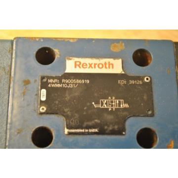 Bosch Rexroth R900586919 4WMM10J31 Hydraulic Directional Control Valve