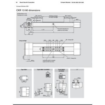 BOSCH REXROTH CKR 12-90  R036430000 COMPACT MODULE CKR LINEAR ACTUATOR