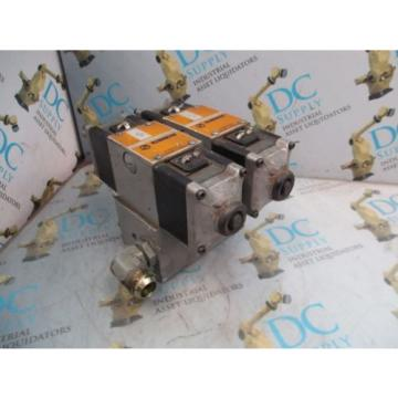 REXROTH 4WE10G21/AW110NZ4V 4 WAY SOLENOID VALVES WITH MANIFOLD ASSEMBLY