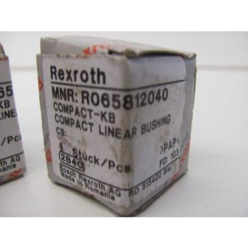 LOT OF 2 REXROTH R065812040 COMPACT LINEAR BUSHING NIB