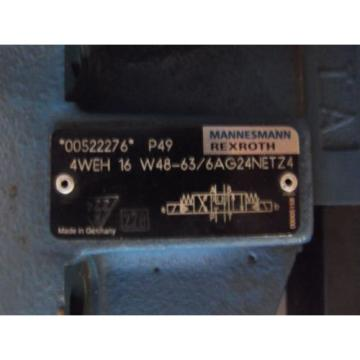 REXROTH 4WE6J53/ AG24NZ4 DIRECTIONAL CONTROL VALVE + 4WEH 16 W48-63/6AG24NETZ4
