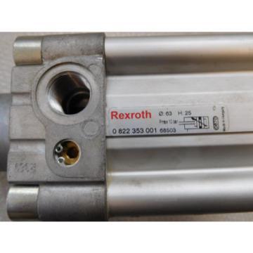 Rexroth Germany Egypt 0822 353 001 Pneumatic Cylinder Hub 25mm, Pistons ⌀63mm, Piston Rod 20mm