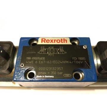 REXROTH Hydraulic VALVE4WE 6 E67-62/EG24N9K4/T06V, R900956830