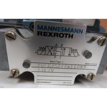 MANNESMANN REXROTH DIRECTIONAL CONTROL VALVE 4WE6J52/AW110N9