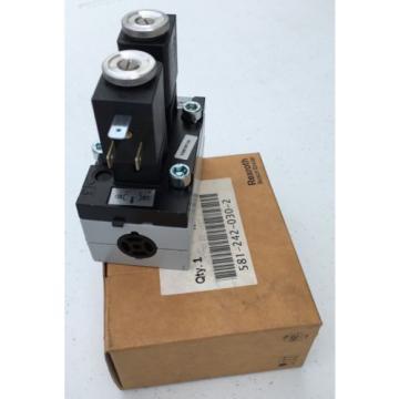 5812420300 581-242-030-0 Bosch Rexroth Air Valve 5/3 Closed Center 110VAC ISO 2