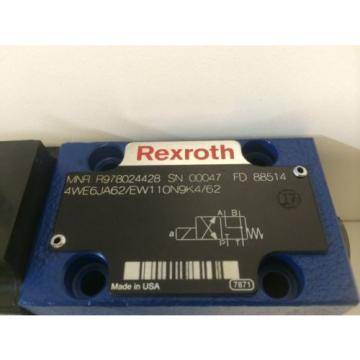 Origin REXROTH HYDRAULIC DIRCTIONAL SOLENOID VALVE R978024428 4WE6JA62/EW110N9K4/62