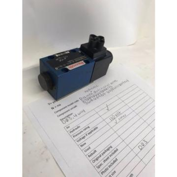 Rexroth hydraulic directional valve 3WE6E9B9- 62/ EW110N9K4