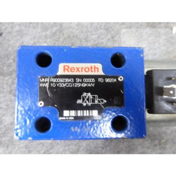 Origin REXROTH DIRECTIONAL VALVE # 4WE10Y33/CG125N9K4/V # R900923843