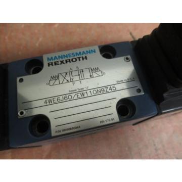 REXROTH DIRECTIONAL VALVE 4WE6J60/EW110N9Z45 4WE6J60EW110N9Z45