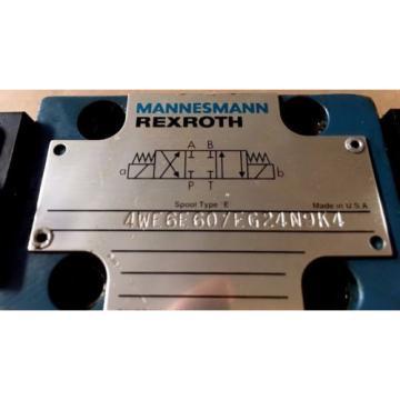 Mannesmann Rexroth Valve 4WE6E60/EG24N9K4