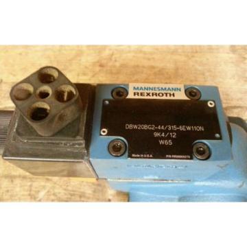 Mannesmann Rexroth DBW20BG2-44/315-6EW110N-9K4/12-W65 Hydraulic Control Valve