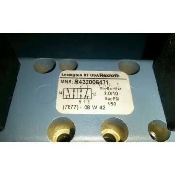 Origin REXROTH R432006471 Air Control Valve, Base Mounted, 4-Way, 2 Solenoids