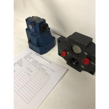 Rexroth hydraulic relief valve DZ20-2-52/ 315/ 12X with sub plate