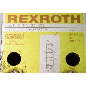 REXROTH 4 WE 10 J11/LG24NZ4 HYDRAULIC VALVE XLNT
