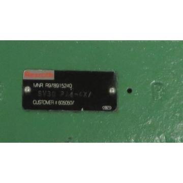 REXROTH Valve MRN: R978915240 P/N: SV30 PA4-4X/