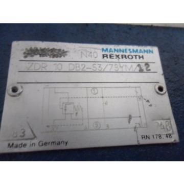 origin Rexroth ZDR10DB2-53/75YM/12 Pressure Reducing Valve Size 6