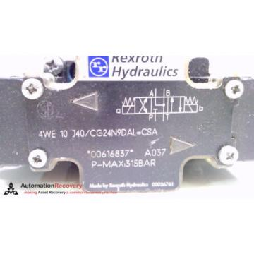 REXROTH 4WE 10 J40/CG24N9DAL, HYDRAULIC DIRECTIONAL VALVE, #214260