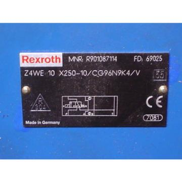 Rexroth Hydraulics Z4WE 10X250-10/CG96N9K4/V R901087114 Sandwich Isolation Valve