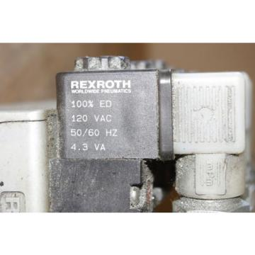 Rexroth Ceram GT10061-2440 x 5 Air Valve Control Manifold Assembly FREE SHIP