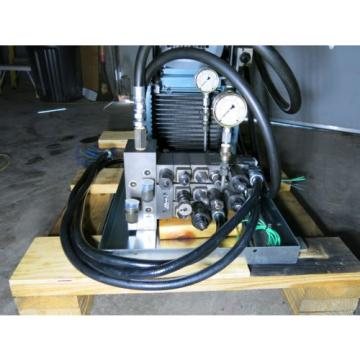 5 HP 105 GPM 2000 PSI Hydraulic Power Supply With Control Valves Sharp