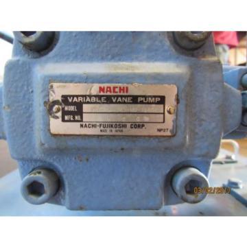 NACHI HYDRAULIC POWER UNIT VARIABLE VANE VDC-1B-2A3-HU-1688K/OF8830000 MOTOR