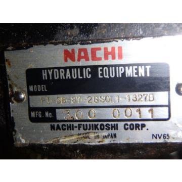NACHI HYDRAULIC PUMP PI-0B-87-2GS0L1-1327B_PI0B872GS0L11327B