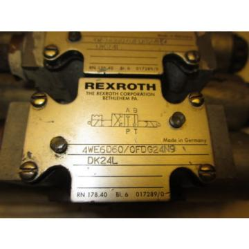 Rexroth 4WE6D60/0FDG24N9DK24L Hydraulic Directional Valve 24VDC Hydronorma