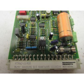 Mannesmann Rexroth VT5062-11/R1E  Proportional Pressure Valve Amplifier Card