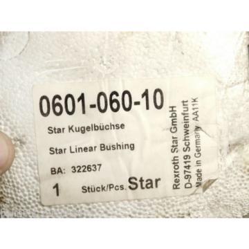 BRAND Origin - Rexroth Star 0601-060-10 322637 Star Linear Bushing