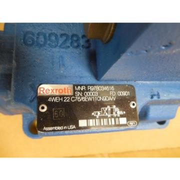 Rexroth Directional Valve 4WE 6 D62/EW110N9DA/V 4WEH 22 C76/6EW110N9DA/V origin
