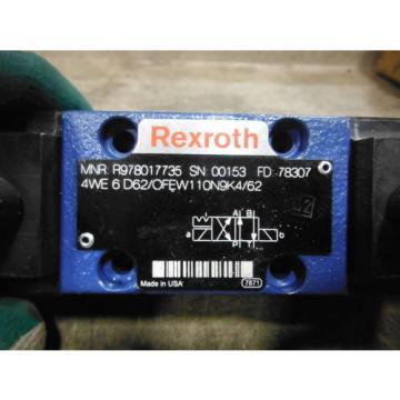 REXROTH VALVE 4WE6D62/OFEW110N9K4/62 ~ USED