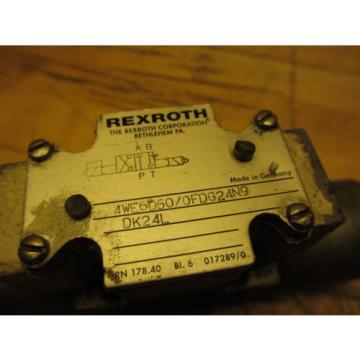 Rexroth 4WE6D60/0FDG24N9DK24L Hydraulic Directional Valve 24VDC Missing Coil Cap