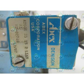 ABEX DENISON ADS0633152L115A1 SOLENOID VALVE USED