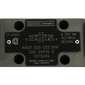 DENISON Hydraulics Directional Control Valve M/N: A4D01 3208 0302 B1W
