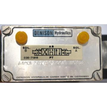 Origin DENISON HYDRAULICS A4D01-207-0302-00A1-W01328 VALVE A4D01207030200A1W01328