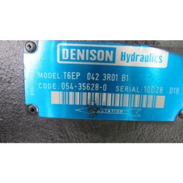 DENISON HYDRAULICS T6EP 042 3R01 B1 DOUBLE VANE HYDRAULIC PUMP